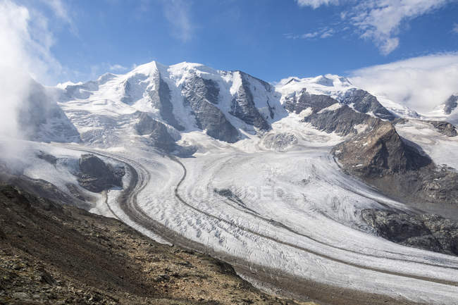 Diavolezza and Pers glaciers — Stock Photo