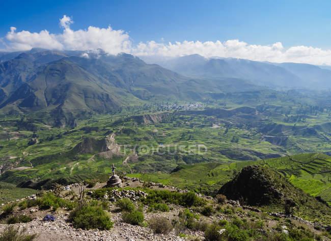 Valle del Colca a regione di Arequipa — Foto stock