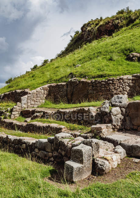 Руїни Tambomachay, у Cusco — стокове фото