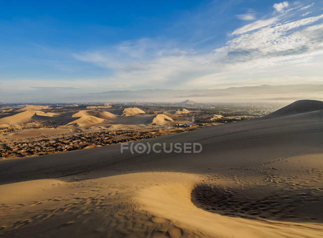 Dune di sabbia del deserto di Ica — Foto stock