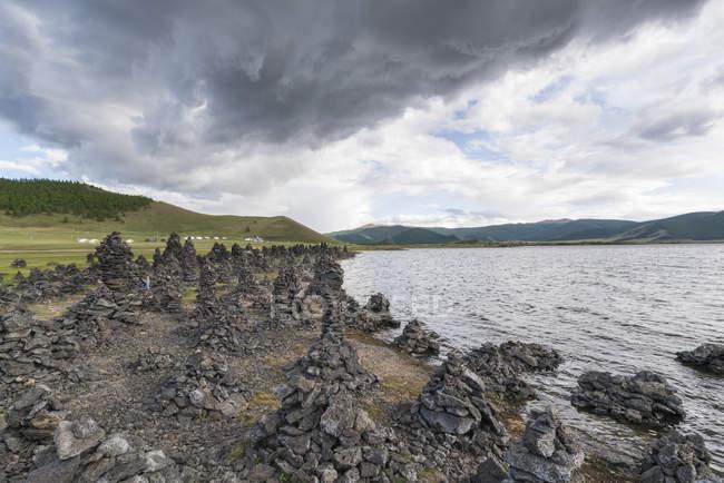 Вулканічних гірських порід — стокове фото