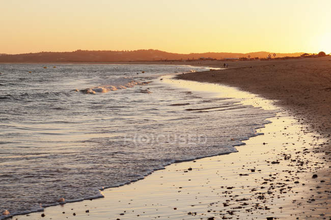 Praia de tres Irmaos beach at sunset — Fotografia de Stock