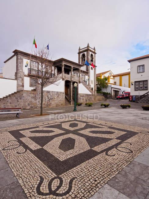 Town Hall at Praia da Vitoria — Fotografia de Stock