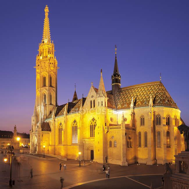 Matthias Church on Buda Castle Hill — Stock Photo