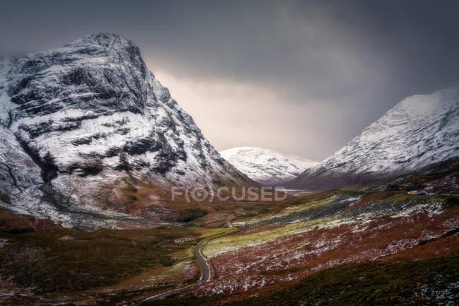 Glencoe mountains in winter — Stock Photo