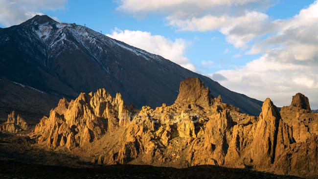 Vulcano Monte Teide al tramonto — Foto stock