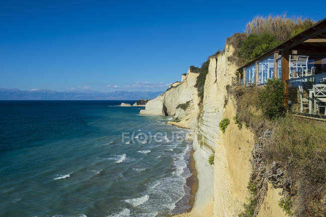 Loggas beach cliff — Stock Photo