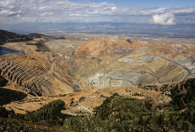 Bingham Canyon Kupfermine — Stockfoto
