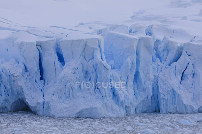 Brash ice filled bay — Stock Photo
