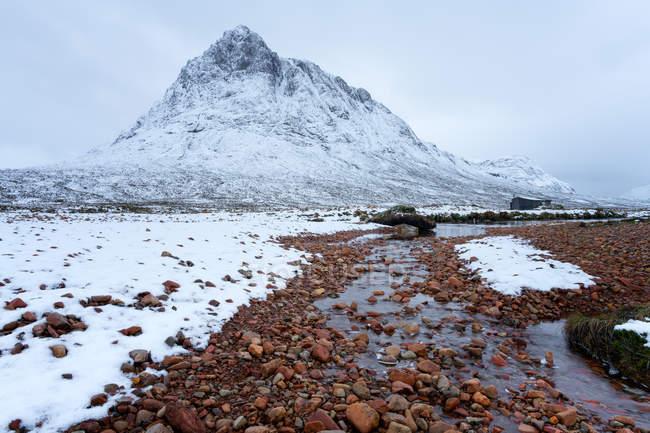 Buchaille Etive Mor in snow — Stock Photo