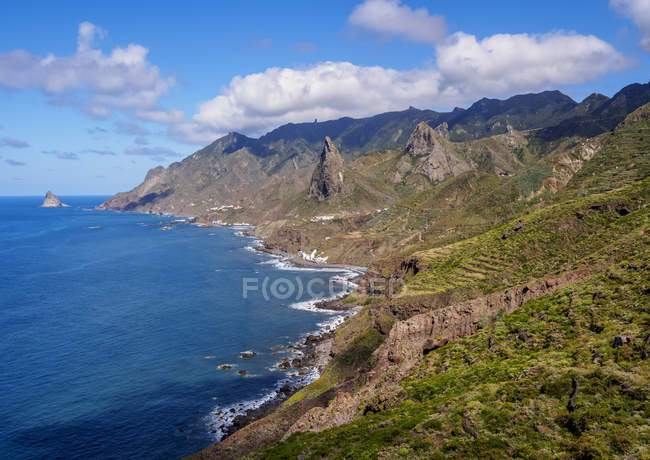 Coast and cliffs near Taganana — Stock Photo