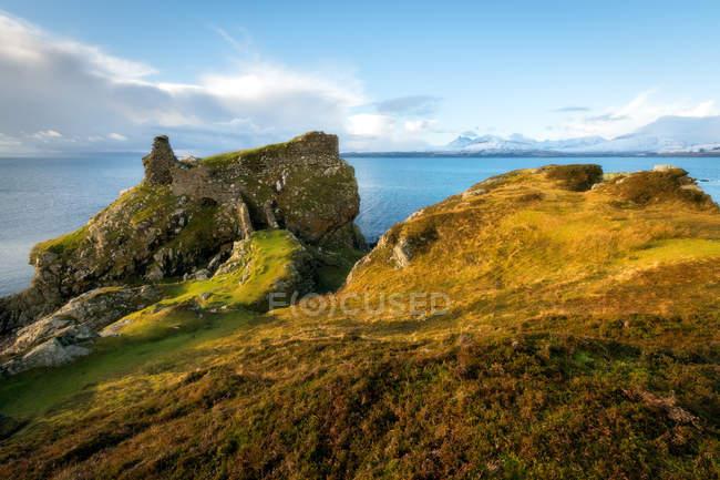 Dunscaith Burgruine — Stockfoto
