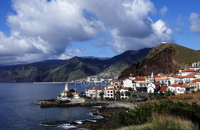 Quinta Lorde Costa sob céu nublado, Canical, Madeira, Portugal — Fotografia de Stock
