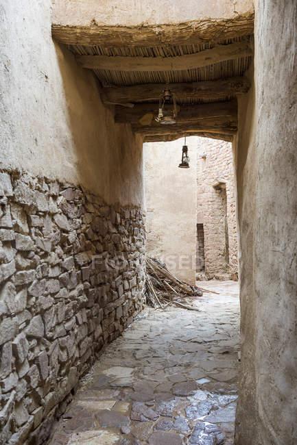 Ruínas da antiga cidade fantasma de Al Ula, Arábia Saudita, Oriente Médio — Fotografia de Stock