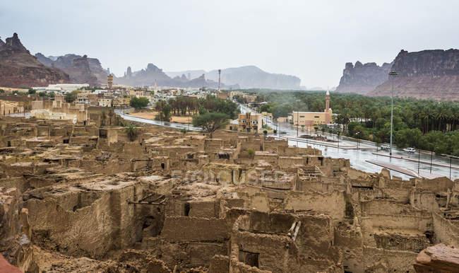 O velho fantasma cidade de Al Ula, Arábia Saudita, Oriente Médio — Fotografia de Stock
