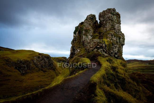 Felsformation im Fairy Glen, Isle Of Skye, innere Hebriden, Schottland, Vereinigtes Königreich — Stockfoto