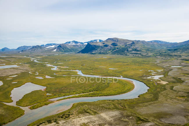 Moraine Creek in Katmai National Park and Reserve, Alaska, United States of America, North America — Stock Photo