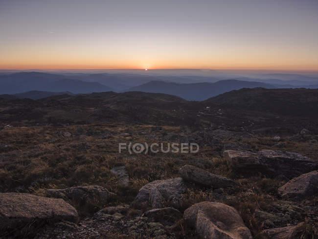 Mountain landscape from Mount Kosciuszko peak of New South Wales, Australia — Stock Photo