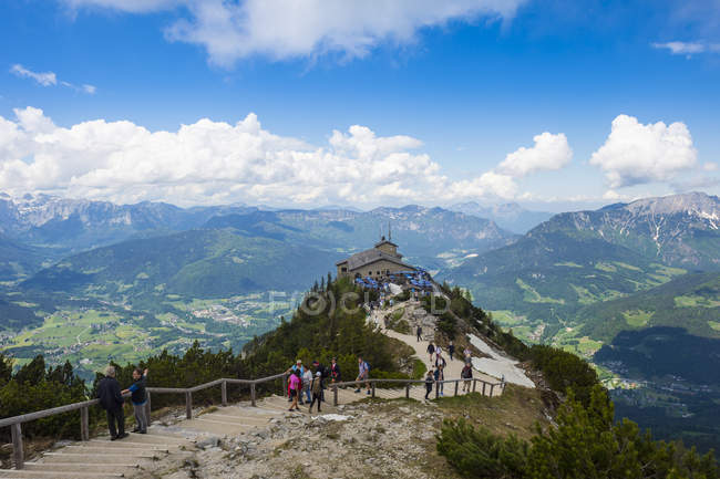 Bavarian Alps and Eagle Nest — Stock Photo