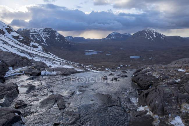 Landscape of Scottish Highlands in Torridon along The Cape Wrath Trail, Highlands, Scotland, United Kingdom — Stock Photo