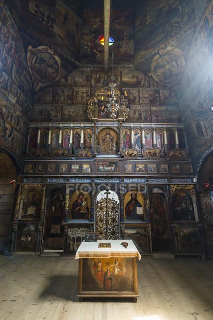 Pinturas en madera St. Georges Church, Drohobych, Ucrania - foto de stock
