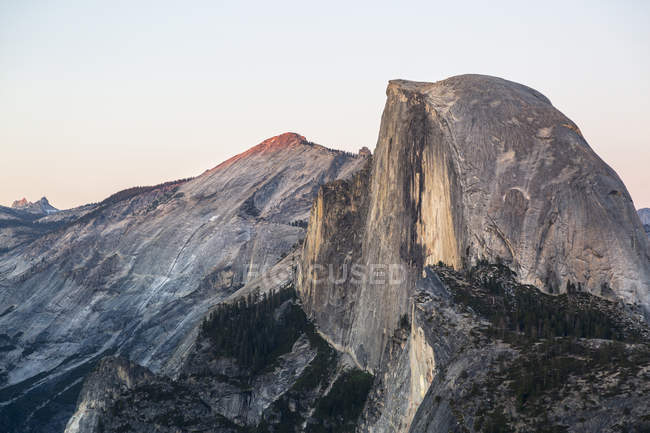 Close-up of Half Dome cliff, Yosemite National Park, California, United States of America, North America — Stock Photo