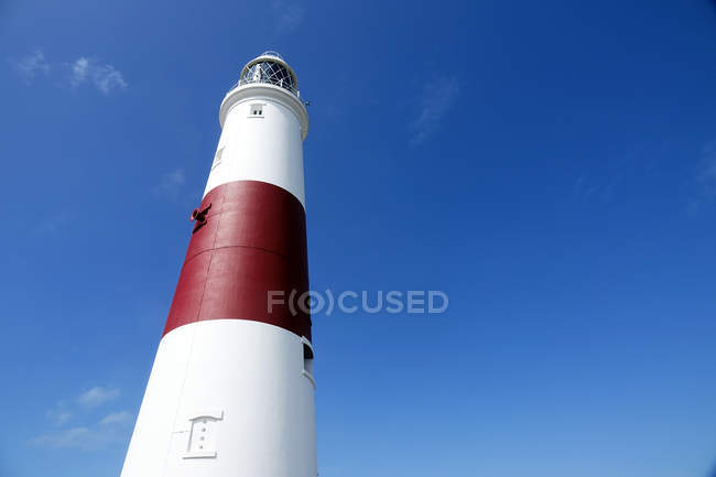 Portland lighthouse against clear sky, Portland Bill, Dorset, England, United Kingdom — Stock Photo
