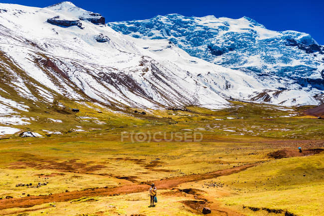 View of picturesque Rainbow Mountain chain in Andes, Peru, South America — Stock Photo