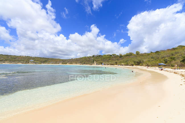 White Sand Beach, Half Moon Bay, Antigua und Barbuda, Leeward-Inseln, West Indies, Karibik, Mittelamerika — Stockfoto