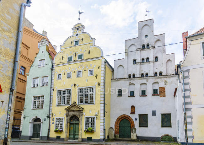 Three Brothers colorful traditional buildings in Old Town, Riga, Latvia, Europe — Stock Photo