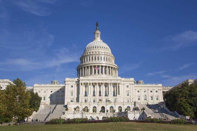 Exterior edifício do Capitólio dos Estados Unidos, Washington D.C., Estados Unidos da América, América do Norte — Fotografia de Stock