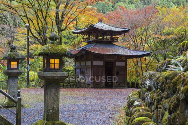 Façade de Otagi Nenbutsu-Ji automne nature, Arashiyama, Kyoto, Japon, Asie — Photo de stock