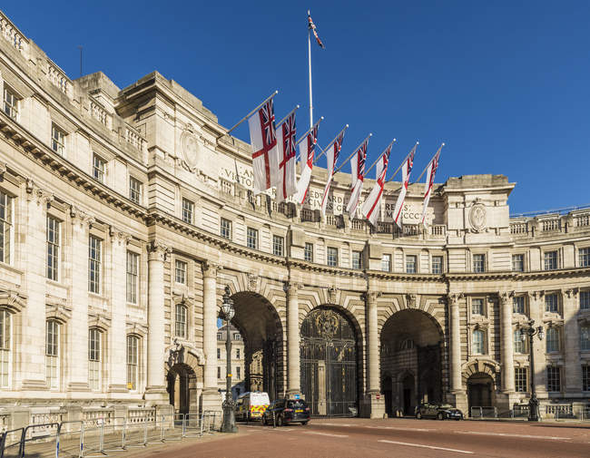 Neoclassical style Admiralty Arch on The Mall, London, England, United Kingdom, Europe — Stock Photo