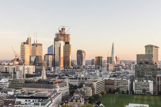 The City of London skyline with modern skyscrapers, London, England, United Kingdom, Europe — Stock Photo