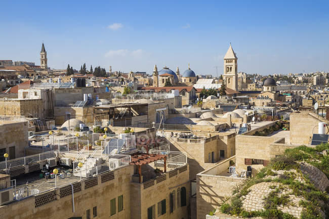 View of Jewish quarter and Old City, Jerusalem, Israel, Middle East — Stock Photo