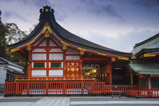 Façade de l'orner sanctuaire Fushimi Inari, Kyoto, Japon, Asie — Photo de stock