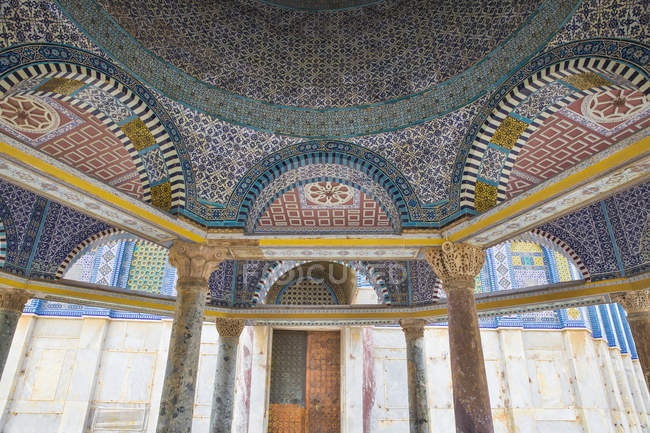 Tile detail of Dome of Chain, Dome of the Rock, Temple Mount, Old City, Jerusalem, Israel, Middle East — Stock Photo