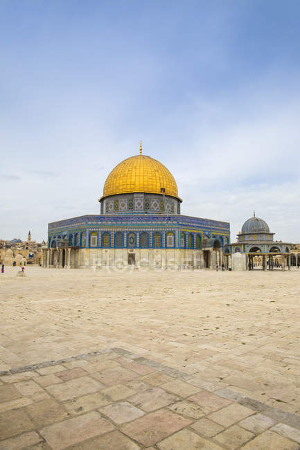 Exterior of Dome of the Rock, Temple Mount, Old City, Jerusalem, Israel, Middle East — Stock Photo