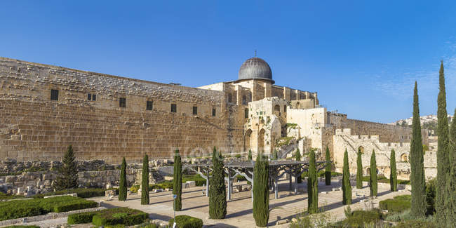 Exterior of Jerusalem Archaeological Park and Davidson Center, Jerusalem, Israel, Middle East — Stock Photo