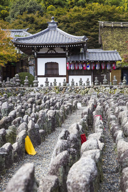 Façade de Adashino Nenbutsu-Ji Temple, Arashiyama, Kyoto, Japon, Asie — Photo de stock