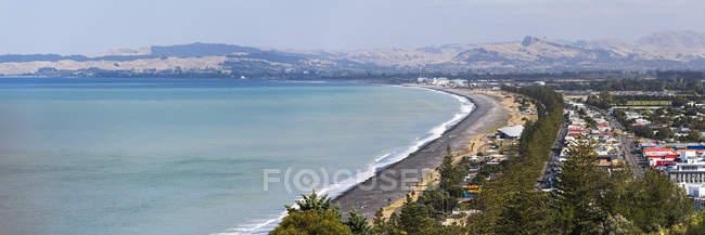 Вид з висоти на узбережжі Napier, затока Hawkes Bay, Північний острів, Нова Зеландія, Тихоокеанський регіон — стокове фото