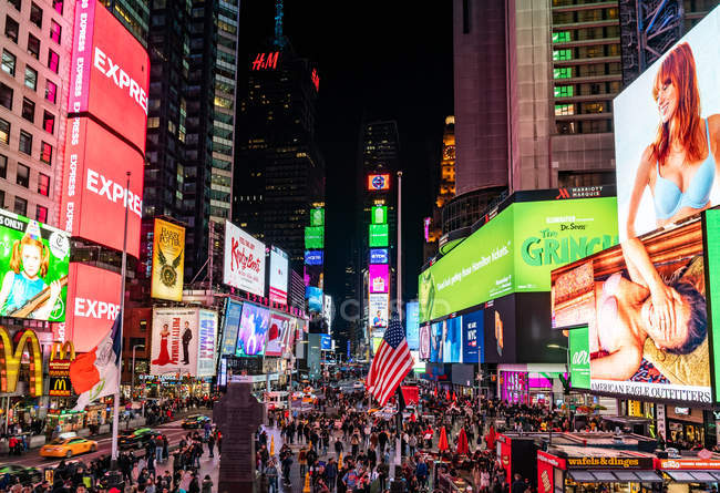 Lights of New York City Times Square — Stock Photo
