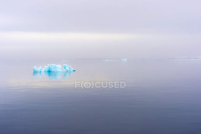 Blue iceberg on water surface in Hinlopen Strait, Norway, Europe — Stock Photo