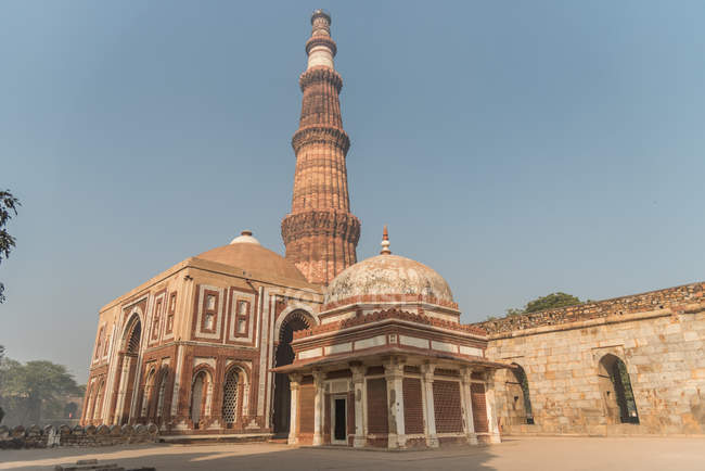Qutub Minar in New Delhi, India, Asia — Stock Photo