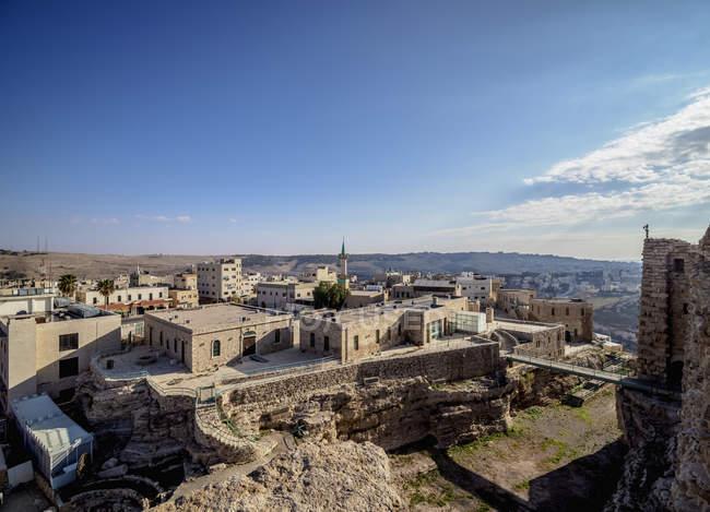 Kerak Castle at Al-Karak, Karak Governorate, Jordan, Middle East — Stock Photo