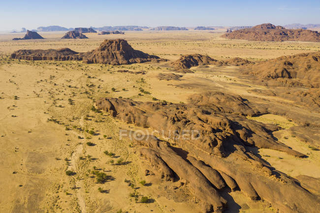 Вид с воздуха на плато Эннеди, регион Эннеди, Чад, Африка — стоковое фото