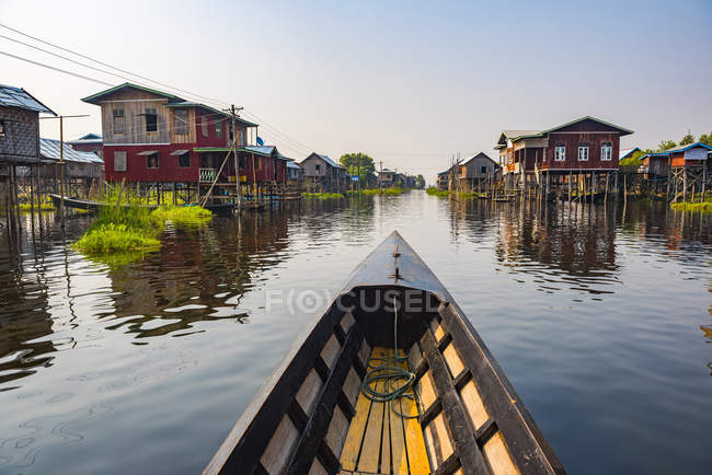 Inle Lake boat trip, Shan State, Myanmar (Burma), Asia — Stock Photo
