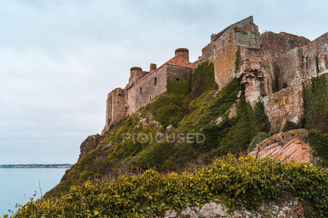 Mont Orgueil Castle at Jersey, Channel Islands, United Kingdom, Europe — Foto stock