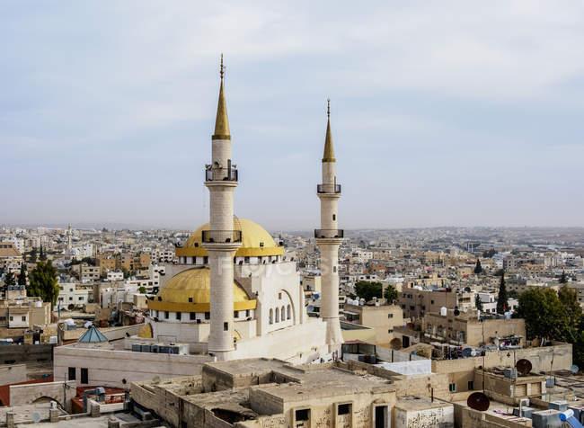 Mesquita do rei Hussein em Jordão, Médio Oriente — Fotografia de Stock