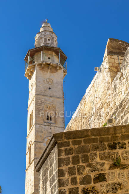 View of Mosque of Omar in Old City, Old City, Jerusalem, Israel, Middle East — Stock Photo